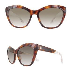 Balenciaga Cat Eye Women's Havana Sunglasses